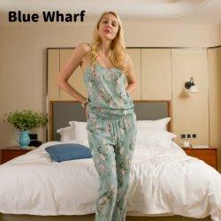 Cina Prezzo basso prezzo Donne morbide elasticizzato comodo tessuto viscosa Pajama Pants Simple Lounge Pants