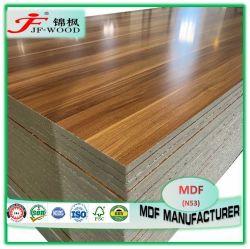 木製のファイバー新しいデザイン材木の家具のパネルによって薄板にされるボードの装飾的な固体Woodgrainのナイジェリアケニヤ16mm 18mm HDFのメラミンMDF