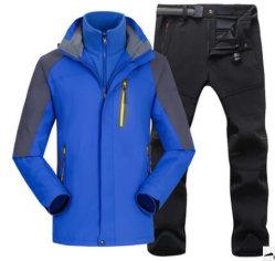 Зимой открытый Anti-Cutting Storm Suit 2 детали установите съемный ТЕБЯ ОТ ВЕТРА альпинизма водонепроницаемый костюм 3 в 1 с пиджак и брюки для мужчин и женщин