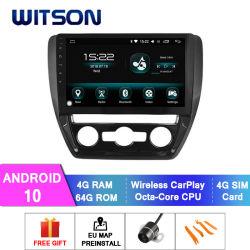 Automobile radiofonica del Android 10 per il RAM manuale 64GB di versione 4GB del condizionatore d'aria di VW 2012-2014 Sagitar/Jetta