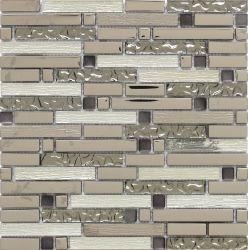 Mosaico de vidrio con Metal Color de fondo y paredes y pisos (G855124/25/27).