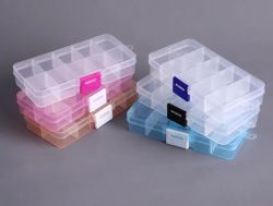 10의 격실 다채로운 플라스틱 노리개 저장 상자