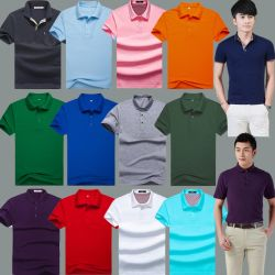 قميص بولو قصير ملون من نوع T-Shirts Stock (H19-1)