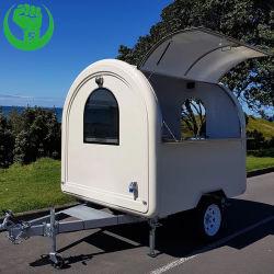 De aangepaste Aanhangwagen van het Snelle Voedsel van de Glasvezel van de Caravan van de Snack van de Vrachtwagen van het Voedsel van de Kar van het Voedsel van de Straat Mobiele