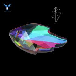 Colorida Forma de la hoja colgante de cristal con un agujero para Collar Arete Decoración