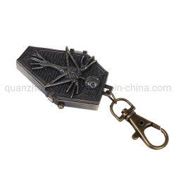 Aleación de OEM Negro personalizable cráneo pequeño ataúd reloj de bolsillo