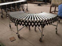 중국 공장 이동 깔판에 사용되는 확장 가능한 유연한 강철 롤러 컨베이어