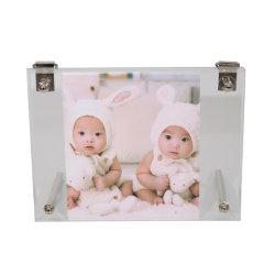 Commerce de gros de l'acrylique Photo Picture Frame avec support pour cadeau