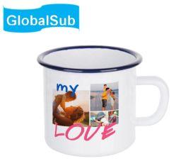 Globalsub Photo personnalisée de la sublimation de l'émail couché tasse tasse à café réutilisables pour le transfert de chaleur de l'impression