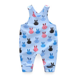 حديث ولادة طفلة [فشيون كلوثينغ] 100% قطر ثوب فضفاض رسم متحرّك أرنب طبعة ملابس