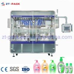 粘性液体充填機の完全な洗濯洗剤の包装ライン