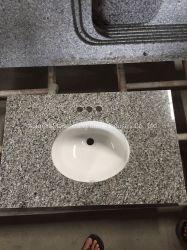 Los cuartos de baño de granito de la vanidad de cerámica de la parte superior de la vanidad de unidades