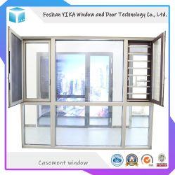 허리케인 영향 1.4mm 두께 절연된 알루미늄 이중 유리 케이스 윈도우/ 틸트 및 회전 창