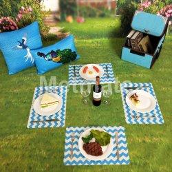 Jantar ao ar livre e de partido único temáticos placemats de luxo e guardanapos