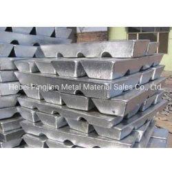 Lingote de Zn lingote de zinco zinco metálico do zinco na LME Preço 80 Zinco puro lingotes ânodo de zinco