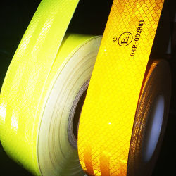 Cinta Reflector 3m ECE 104r 反射型 PVC 反射性ロールテープ