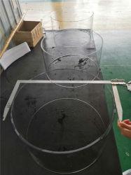 Quartzo de grande diâmetro do tubo de vidro de quartzo transparente para lâmpada UV