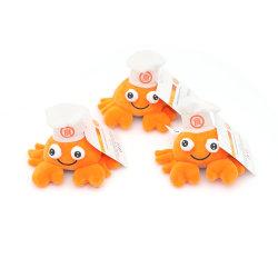 Yd Orange Caranguejo Chaveiro de pelúcia com camurça brinquedo de Limpeza do fundo