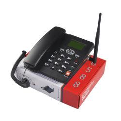 Il telefono dello scrittorio di SIM con la chiamata di identificazione di visitatore FM SMS devia la funzione personalizzata
