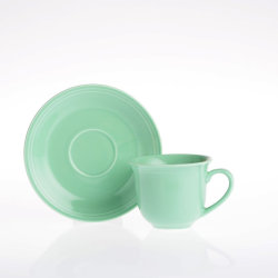 Vendeur de tasses de café chaud en céramique et soucoupes en Chine