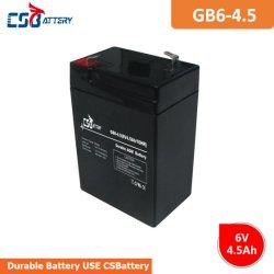 6 V4.5ah Csbattery аккумуляторы AGM аккумулятор для Emergency-Light/Alarm/ИБП/солнечной/Golf-Car/Телеком/ИНВЕРТОРА