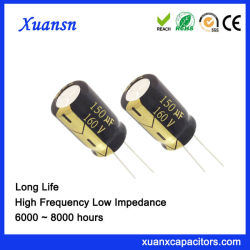 I fornitori forniscono i condensatori elettrolitici di alluminio di lunga vita dei condensatori 150UF160V