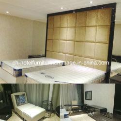 1つの頭板が付いている贅沢な中国の木のレストランのホテルの寝室の家具および湾領域のための2つのツイン・ベッド