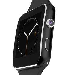 Het in het groot Gebogen Scherm van Bluetooth Smartwatch X6 Androïde met Kaart SIM