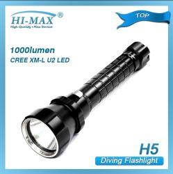 CREE Xm-L2 U2 conduit 1200lumen réflecteur orange lampe de plongée