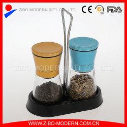 2PC tapa metálica de color sal y pimienta conjunto molino