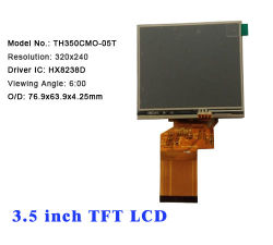 OEM 3.5 Duim TFT LCD 240*320---Met van Cmo/Without Tp (LQ035NC111)