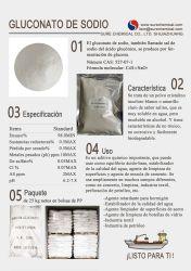 글루콘산나트륨 기술 등급 좋은 품질 99% 화이트