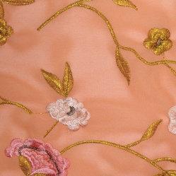 Полиэстер с вышитым шифон ткань, цветочный узор, 75 X 75D пряжи для мода платья