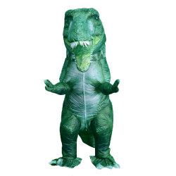 [ترنّوسوروس] خضراء [رإكس] قابل للنفخ زيّ [ت-رإكس] لباس كرنافال [هلّووين] مهرجان ملابس