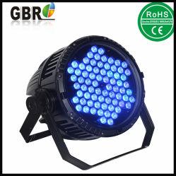 72pcs x 3 W RGB LED de alta potencia exterior par puede IP65 de la luz de la etapa de iluminación LED PAR