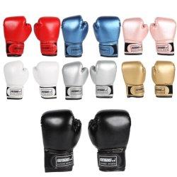 2PCS formação luvas de combate de boxe PU Leather Kids respiráveis muay thai Sparring Puncionar Karaté Kickboxing Luva profissional