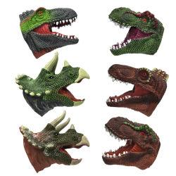 Soft carinhosa de animais selvagens do lado temáticos marionetas para crianças de 1 anos até a mão de dinossauro lavável brinquedos educativos com boa iluminação para crianças jovens rapazes do bebé
