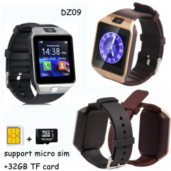 Telefono astuto della vigilanza di Dz09 Bluetooth 3.0 con la fessura per carta di SIM