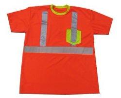 Xl-13073 Les hommes de la haute Viz T-Shirt uniforme réfléchissante