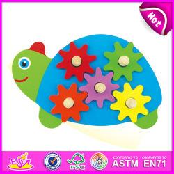 2014의 새로운 아이 장난감 나무로 되는 장치, Popualr 귀여운 아이들 장난감 나무로 되는 장치, 사랑스러운 아기 거북 작풍 장난감 나무로 되는 장치 W13e039