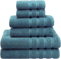 Suave y absorbente juego de toallas turcas de lujo - Premium auténtico algodón Hotel & SPA 2 paños de calidad de los suaves toallas de mano de 2 y 2 toallas de baño Ropa de cama suave por el Americano