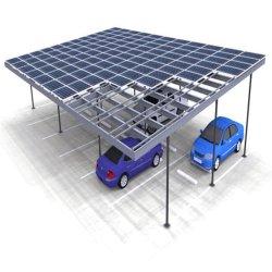 Tierra de aluminio Estructura de montaje de paneles solares Polo Fixting C Sistema de Rack de soporte