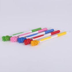 귀여운 카툰 모양의 기계 연필 3D 스마일리 인형 문구류