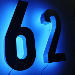 House Numbers Sign Displayの上のPrice Backlit LED Light製造業者