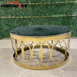 Parte Superior do Espelho moderna mesa baixa Outdoor Mobiliário de casamento mesa de café