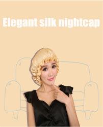 100% Chuveiro de seda pura e noite cap