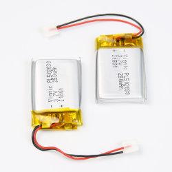 منتجات الجمال الذكية أو المعدات الطبية أو المنتجات الإلكترونية المحمولة مع بطارية ليثيوم أيون بوليمر Pl502030 القابلة لإعادة الشحن