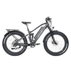 팻 타이어 전기 자전거 750W 스트롱 모터 로드 바이시 전기 자전거 / 풀 서스펜션 전동 산악 자전거 48V 배터리 전기 자전거