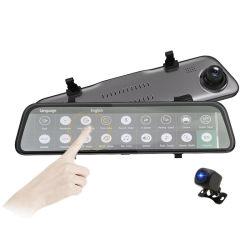 12-дюймовый FHD разрешение 2K с двумя объективами зеркало заднего вида камеры драйвер DVR регистратор
