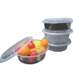 200ml Runde PP Fast Food flache Deckel Salat Haushalt rechteckig Runde biologisch abbaubare Mittagessen PP Kunststoff Einweg-Aufbewahrungsbehälter